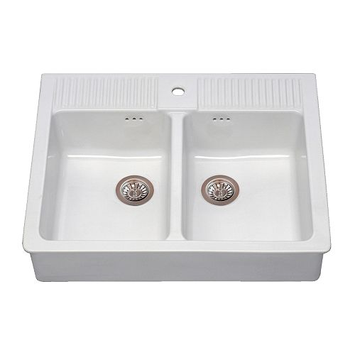 Uses for ceramic sink in garden for Evier double ceramique