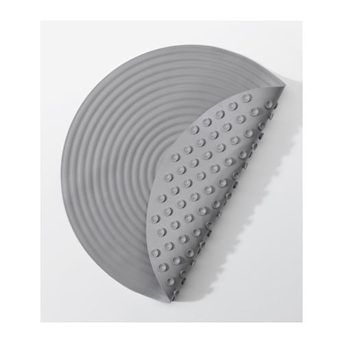 ikea doppa shower mat suction cups keep the mat safely in place in