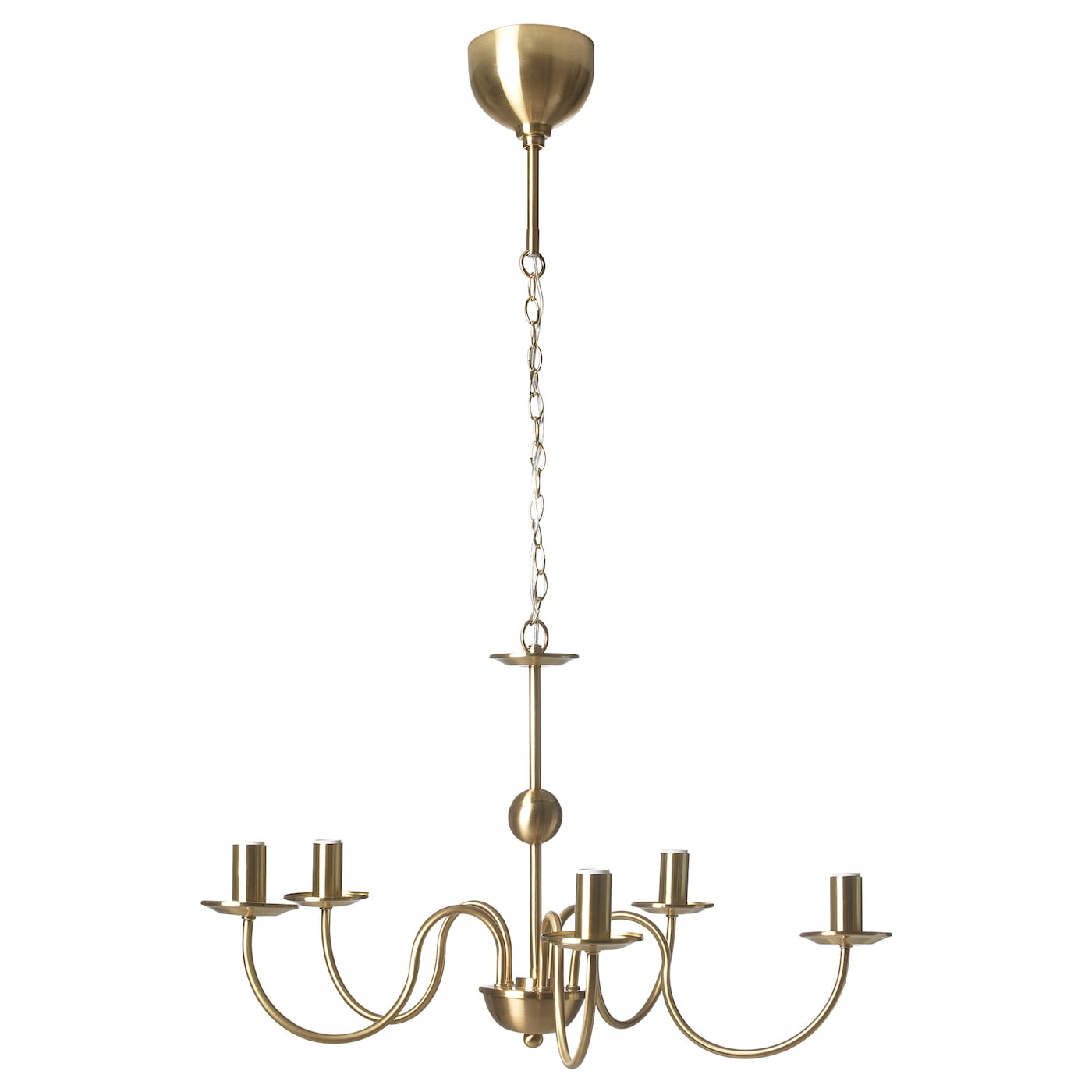 IKEA DOTORP chandelier, 5-armed Easy to adjust the height with the hooks.