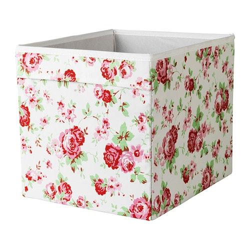 dr na box floral patterned 33 x 38 x 33 cm ikea. Black Bedroom Furniture Sets. Home Design Ideas