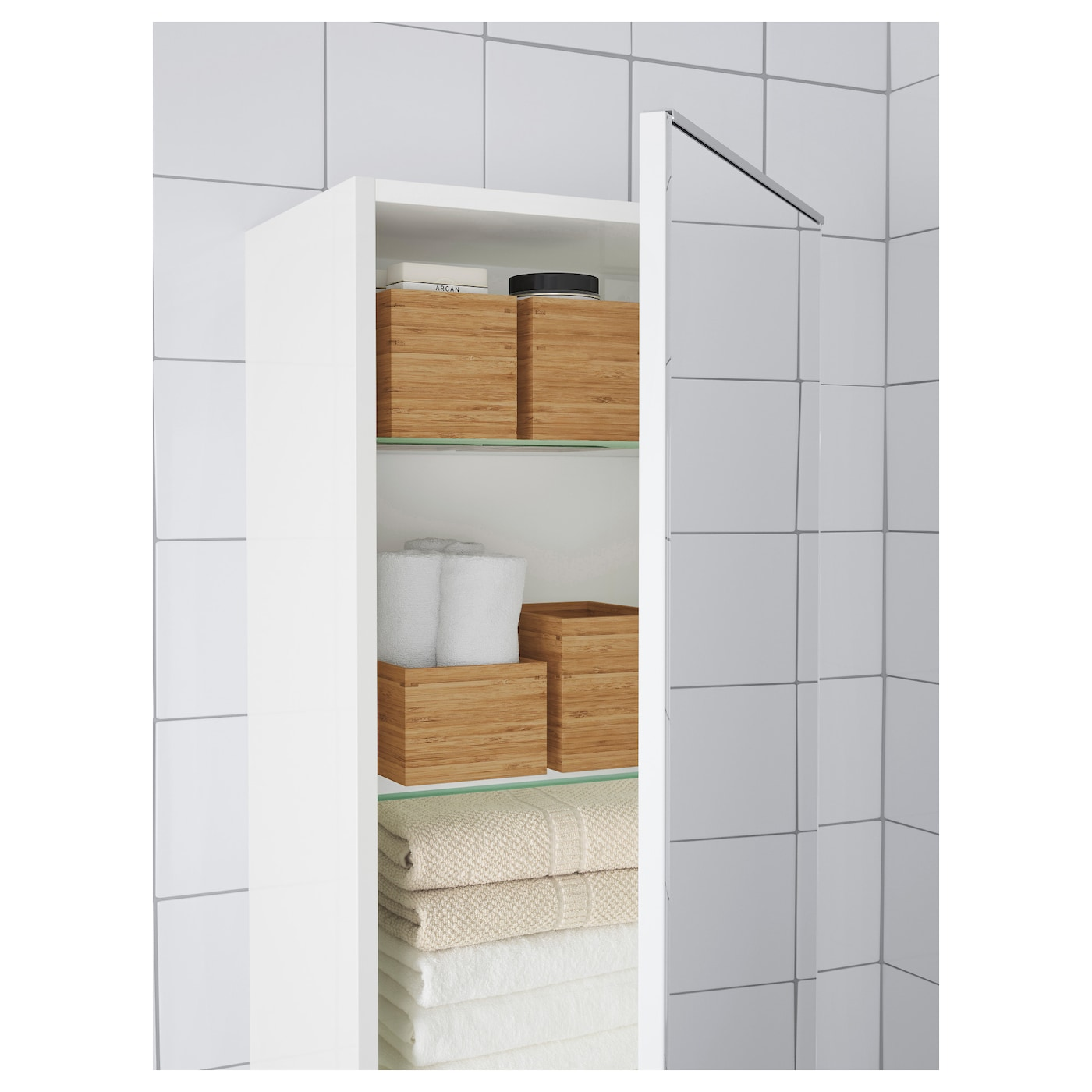 Dragan 2 piece bathroom set bamboo ikea - Bathroom accessories sets ikea ...
