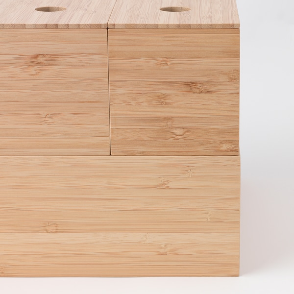 DRAGAN Box, set of 5, bamboo, 24x20 cm