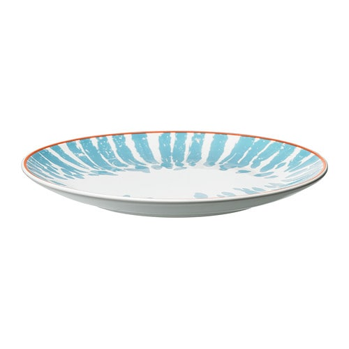DRIFTIG Side plate IKEA Dinnerware with a modern and playful pattern inspired by the fashion world and nature.