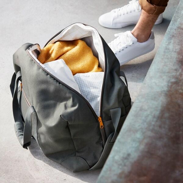DRÖMSÄCK Weekend bag, olive-green, 42 l