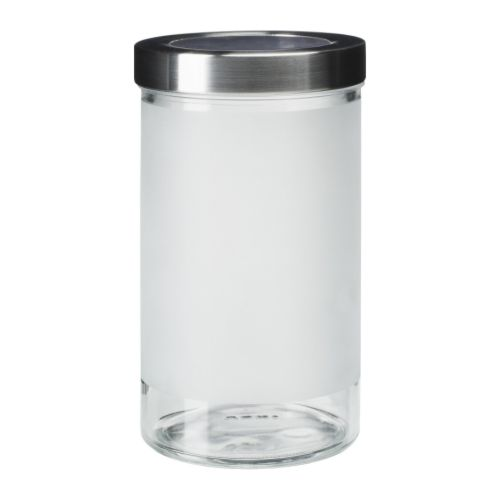 DROPPAR Jar with lid IKEA The transparent jar makes it easy to find what you are looking for, regardless of where it is placed.