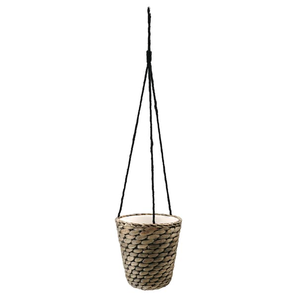 DRUVFLÄDER hanging planter water hyacinth/grey 18 cm 17 cm 14 cm 15 cm
