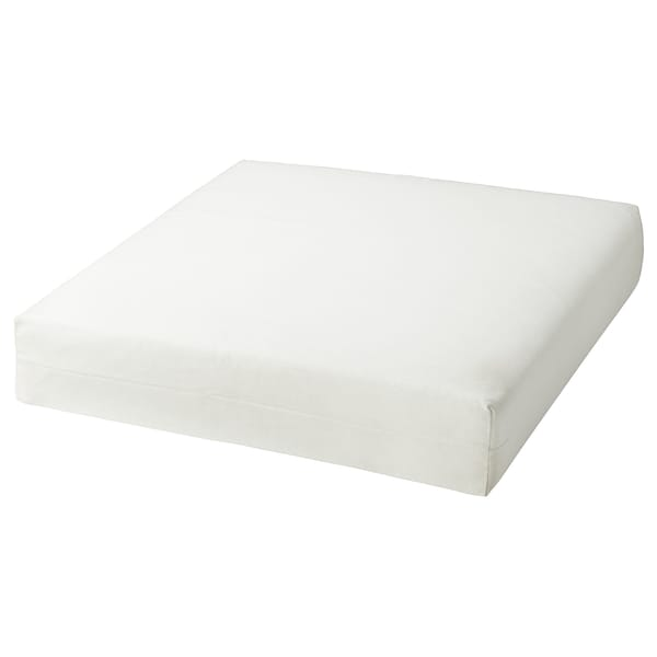 DUVHOLMEN Inner cushion for seat cushion, outdoor off-white, 62x62 cm