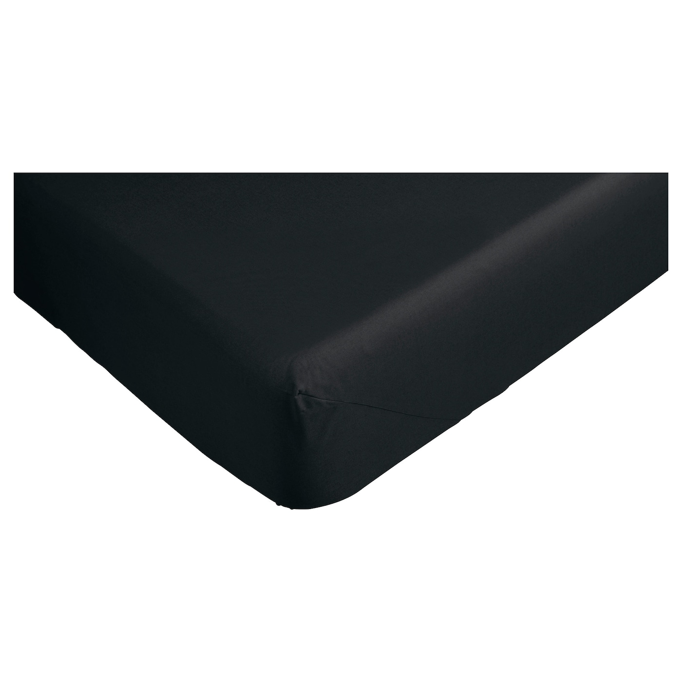 dvala fitted sheet black 90x200 cm ikea. Black Bedroom Furniture Sets. Home Design Ideas