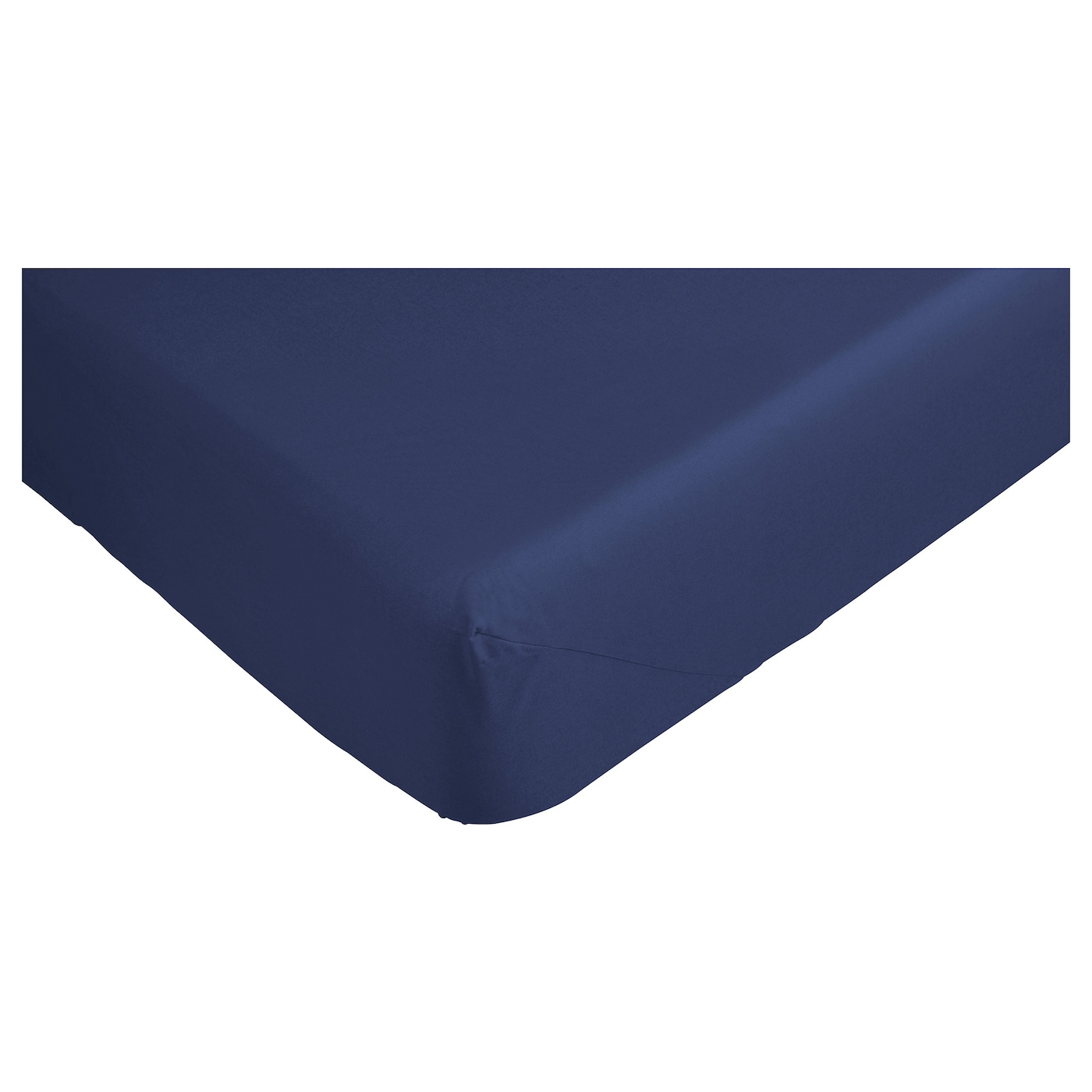 IKEA DVALA fitted sheet Cotton, feels soft and nice against your skin.