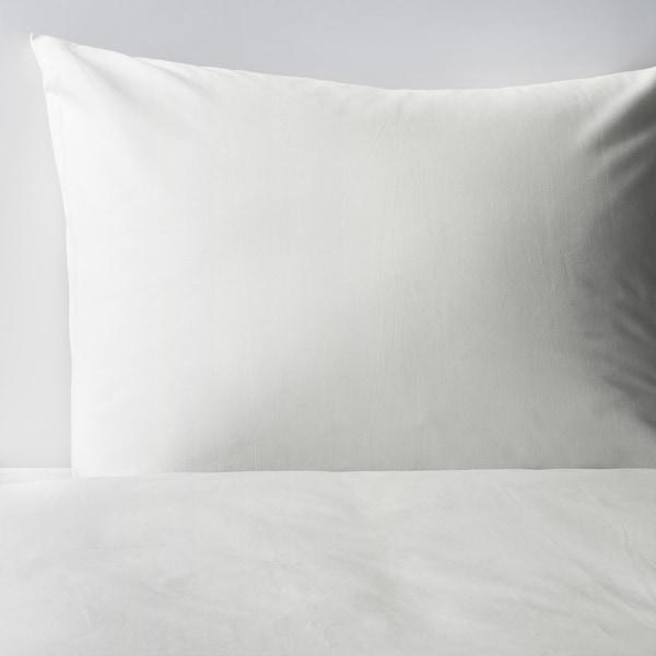 DVALA Quilt cover and pillowcase, white, 150x200/50x80 cm
