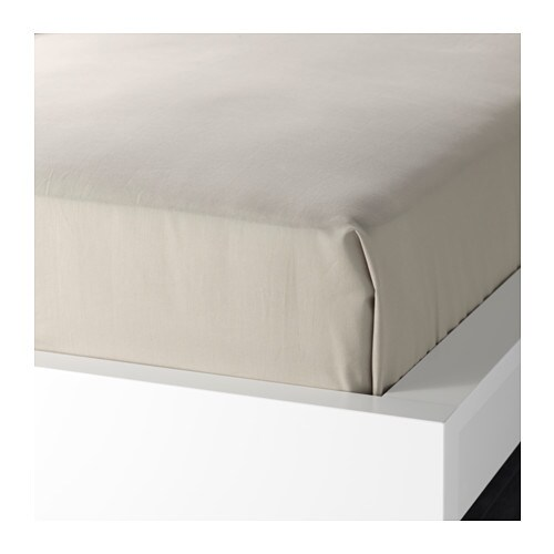 DVALA Sheet IKEA Cotton, feels soft and nice against your skin.  Fits beds that are 160-180 cm wide.
