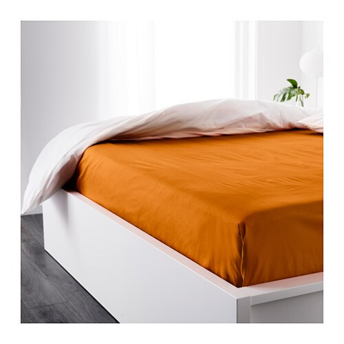 DVALA Sheet Orange 240×260 cm  IKEA