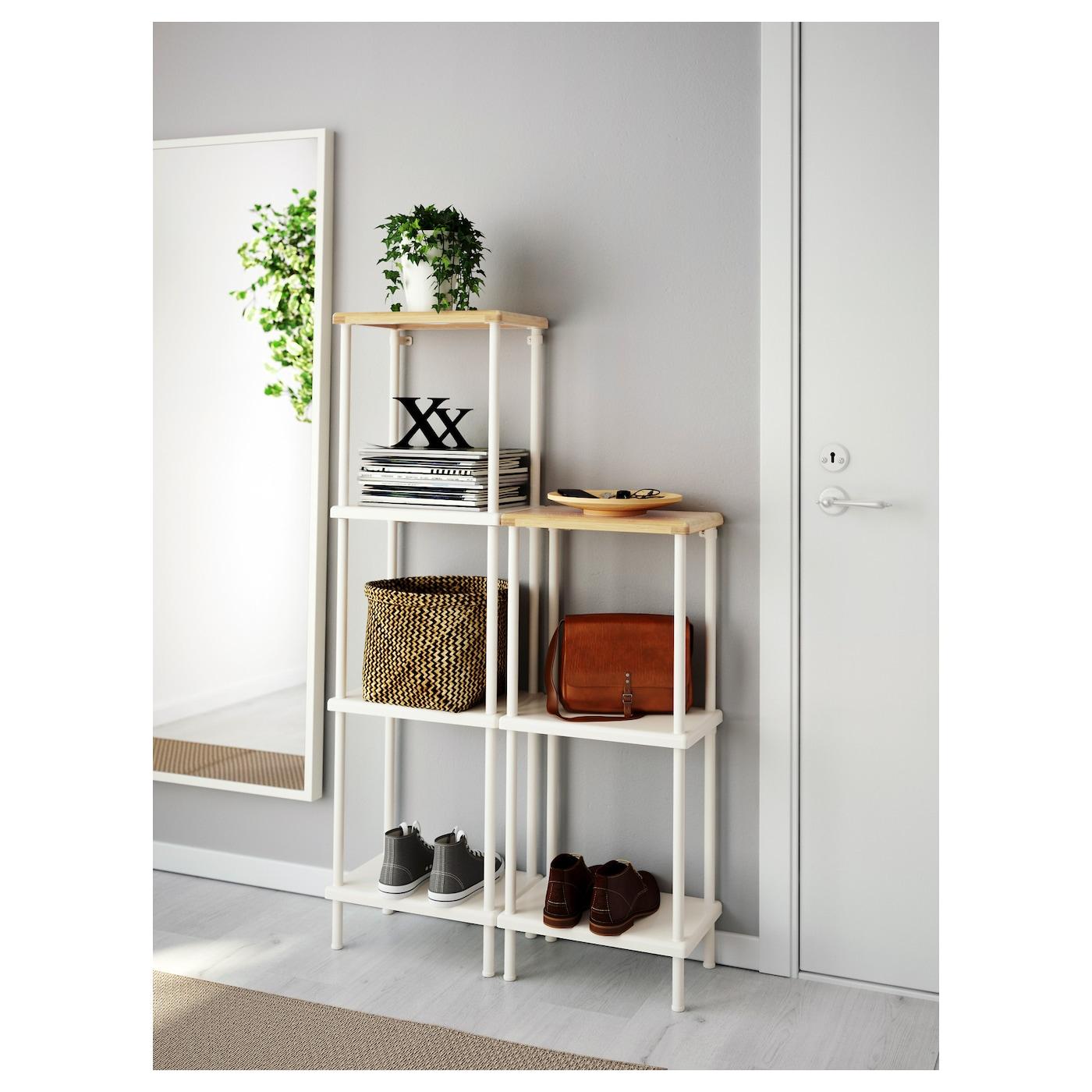 Bamboo bathroom shelf unit - Ikea Dynan Shelf Unit Perfect In A Small Bathroom