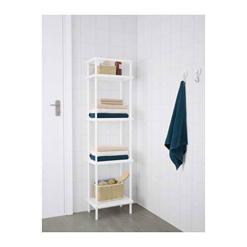 ikea dynan shelf unit you have room for up to 8 bath towels in the
