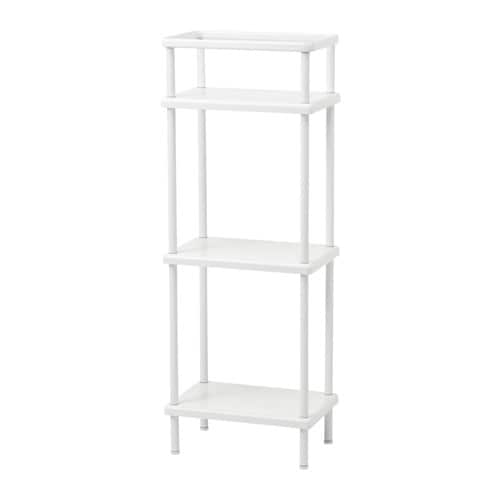 IKEA DYNAN shelf unit with towel rail Perfect in a small bathroom.