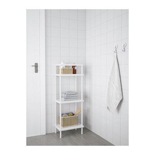 shelf unit with towel rail dynan white