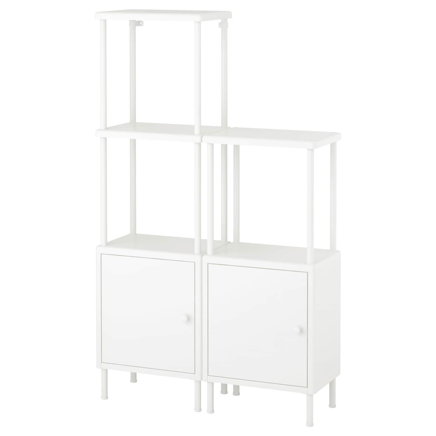 ikea dynan shelving unit with 2 cabinets perfect in a small bathroom