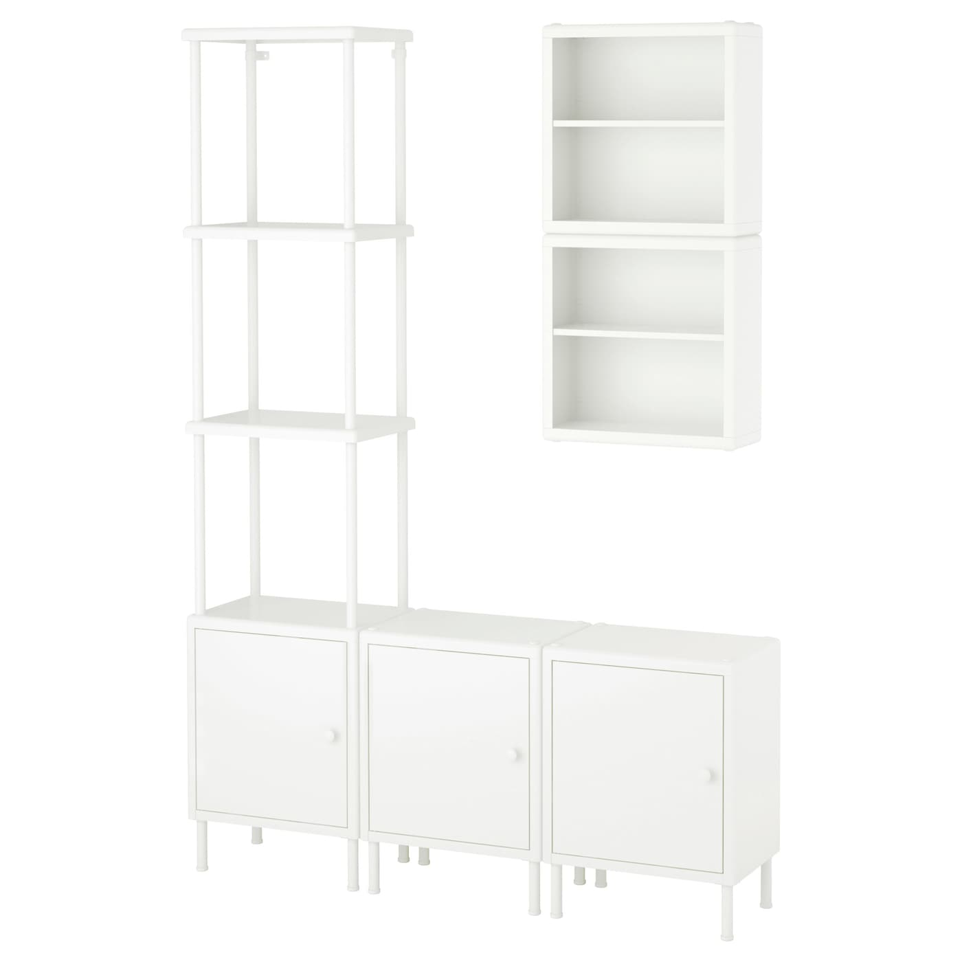 dynan shelving unit with 3 cabinets white 120 x 27 x 54 174 cm ikea rh ikea com step shelves for cupboards wire shelves for inside cupboards