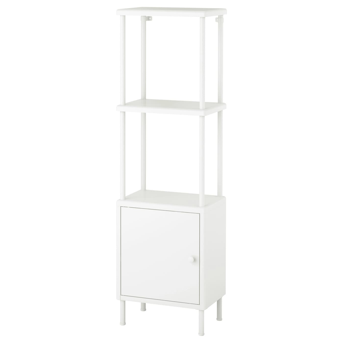 IKEA DYNAN shelving unit with cabinet Perfect in a small bathroom.