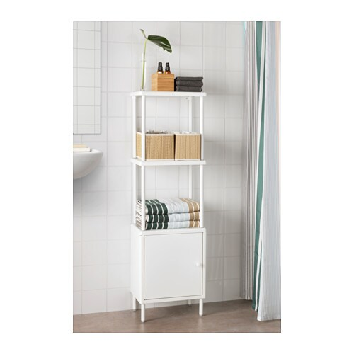 shelving unit with cabinet dynan white