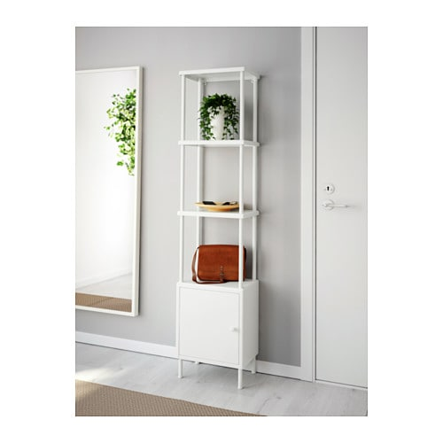 ikea dynan shelving unit with cabinet perfect in a small bathroom