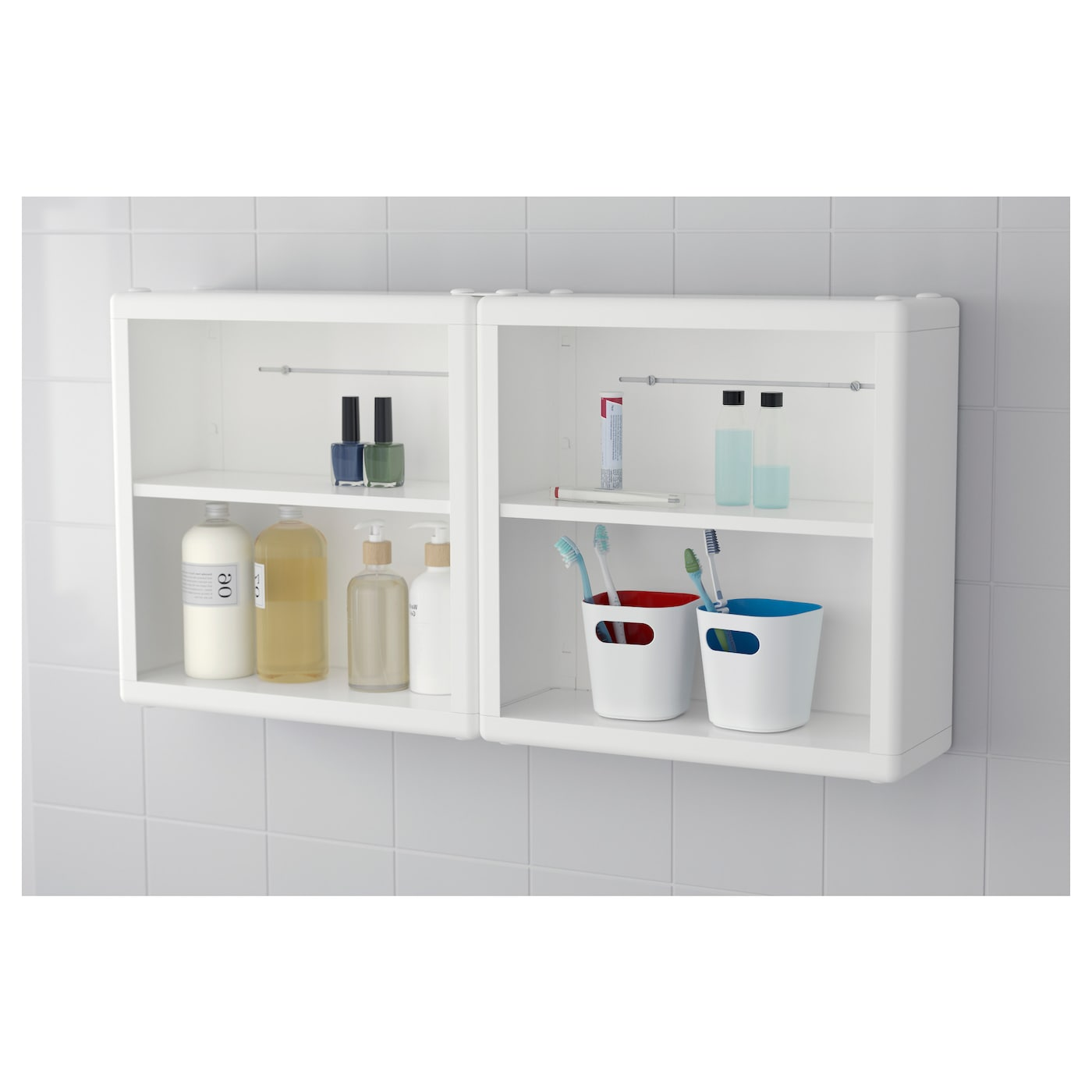 Exceptionnel IKEA DYNAN Wall Shelf Perfect In A Small Bathroom.