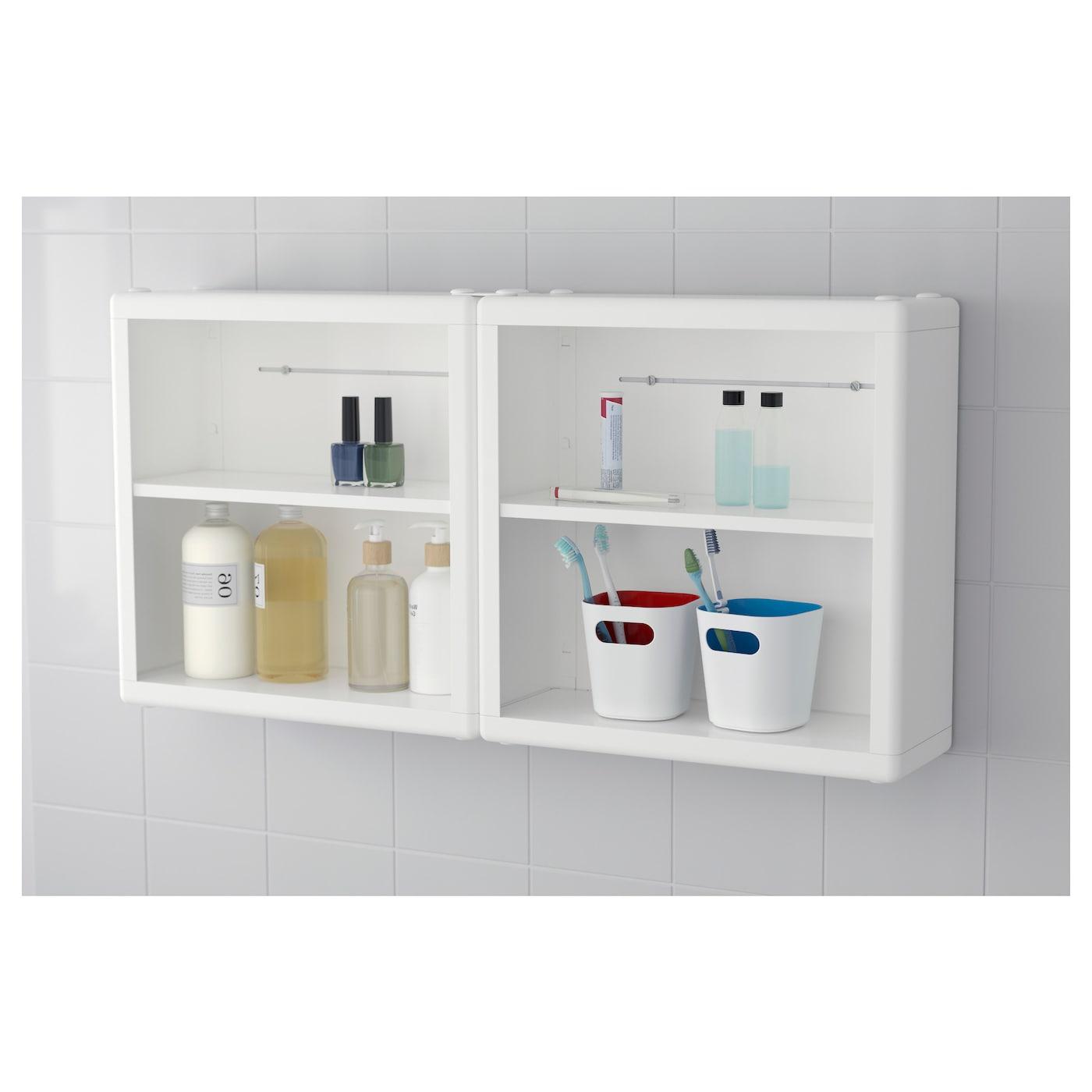 IKEA DYNAN wall shelf Perfect in a small bathroom.