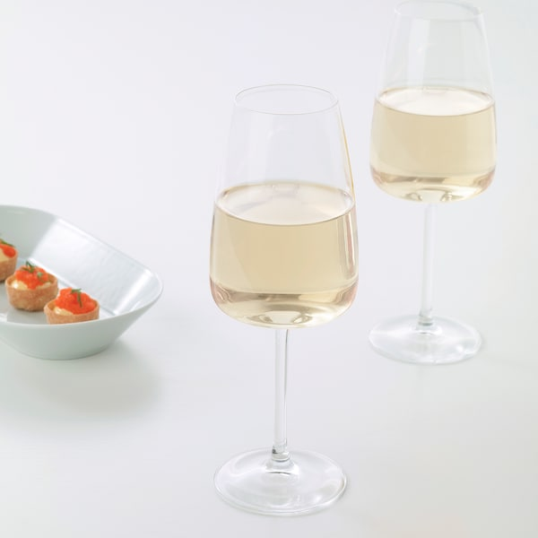 DYRGRIP White wine glass, clear glass, 42 cl