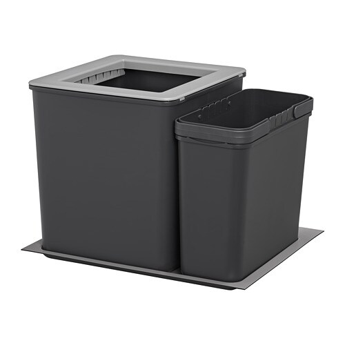 Ikea Kitchen Garbage Drawer: EBBEBO Waste Bins For Cabinet With Drawer