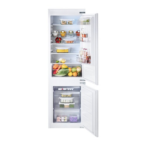 effektfull integrated fridge freezer a white 193 79 l ikea. Black Bedroom Furniture Sets. Home Design Ideas