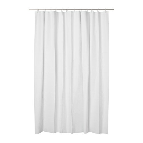 IKEA EGGEGRUND Shower Curtain Can Be Easily Cut To The Desired Length