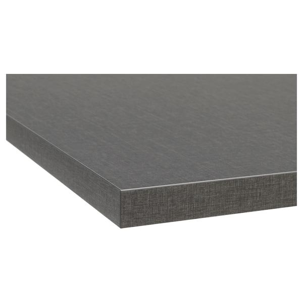 EKBACKEN Custom made worktop, dark grey linen effect/laminate, 45.1-63.5x2.8 cm