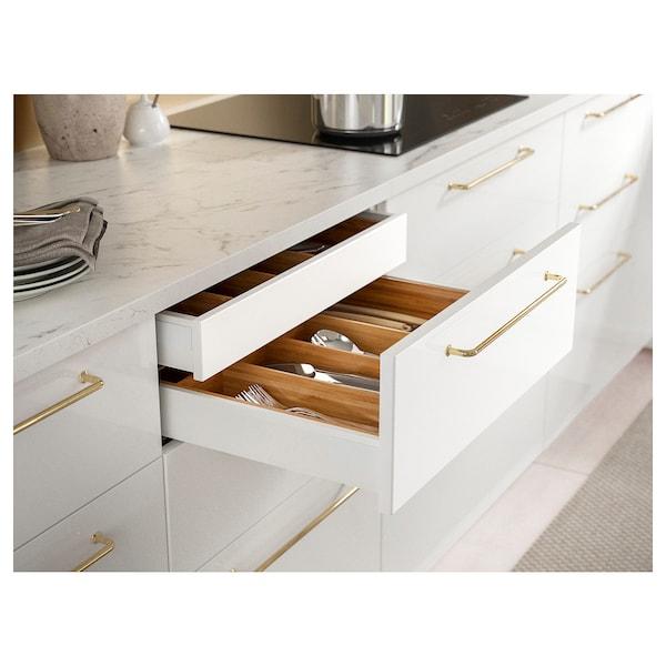 EKBACKEN Custom made worktop, white marble effect/laminate, 30-45x2.8 cm
