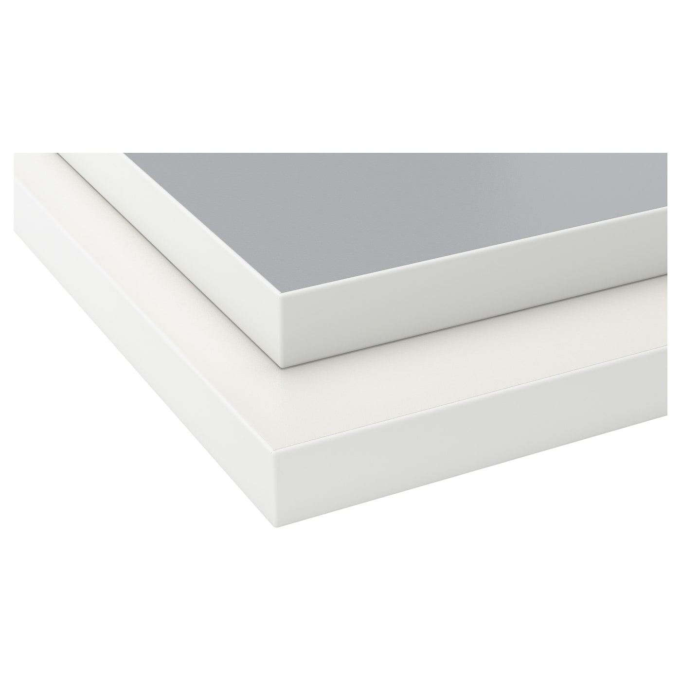 ekbacken worktop double sided light grey white with white