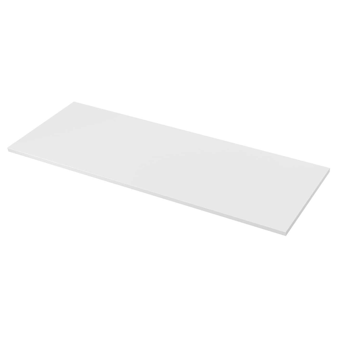 Ekbacken worktop double sided light grey white with white for Table inox ikea