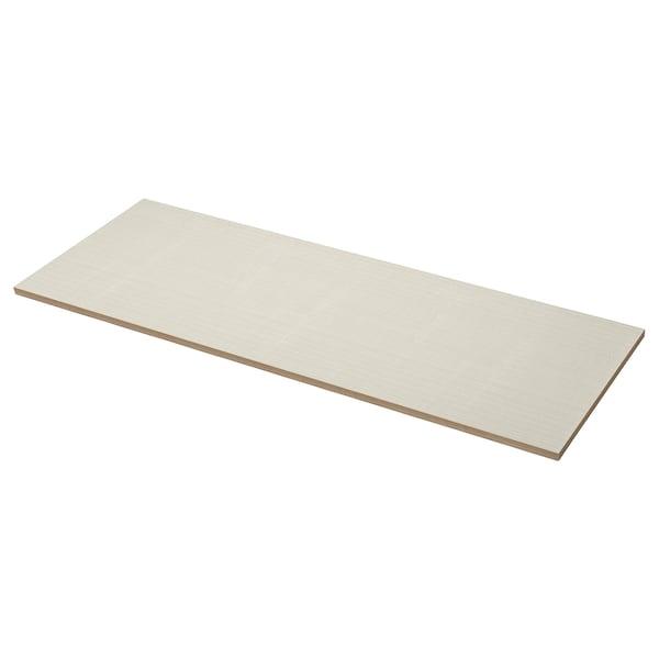 EKBACKEN Worktop, matt beige/patterned laminate, 186x2.8 cm