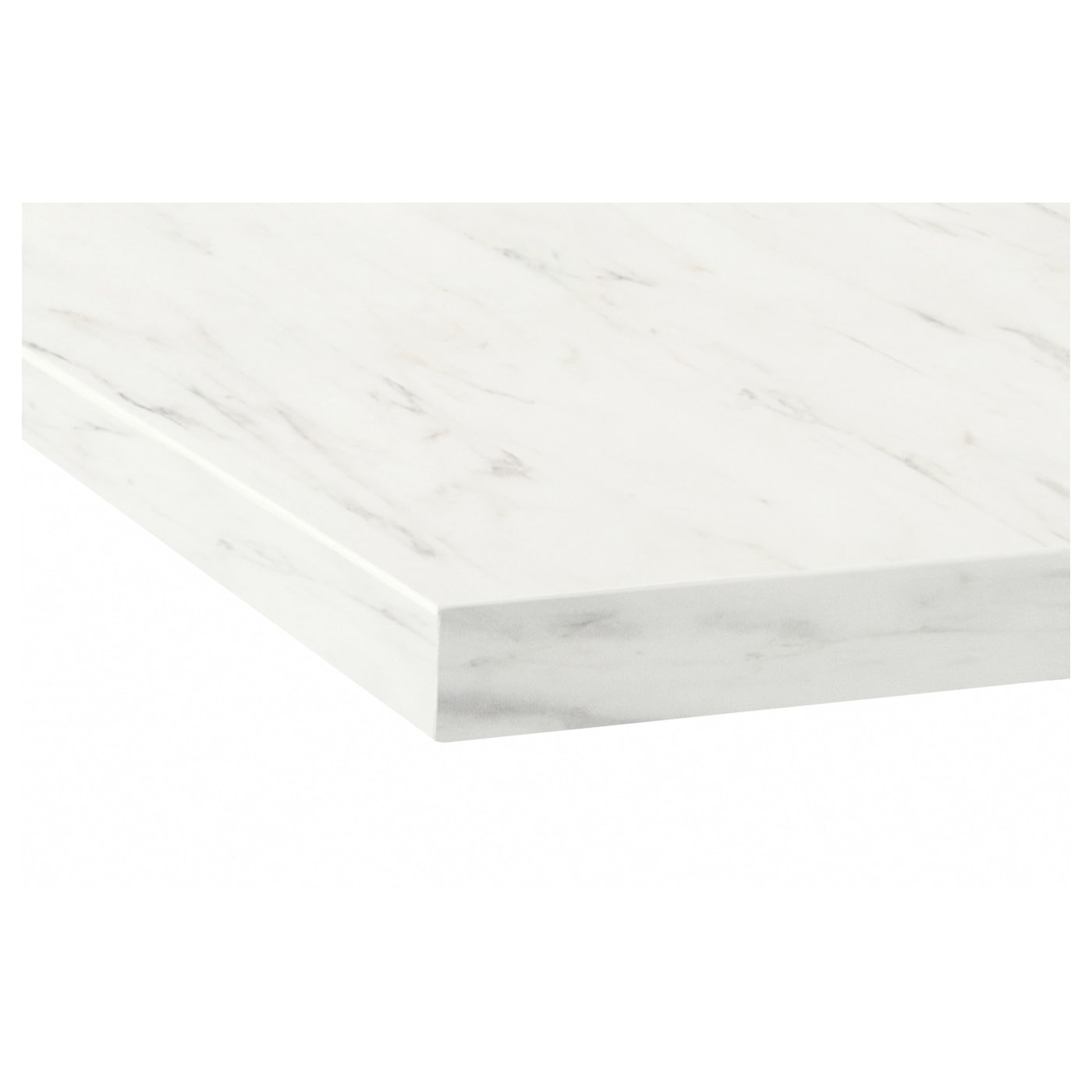 EKBACKEN Worktop White marble effect 246x2 8 cm IKEA