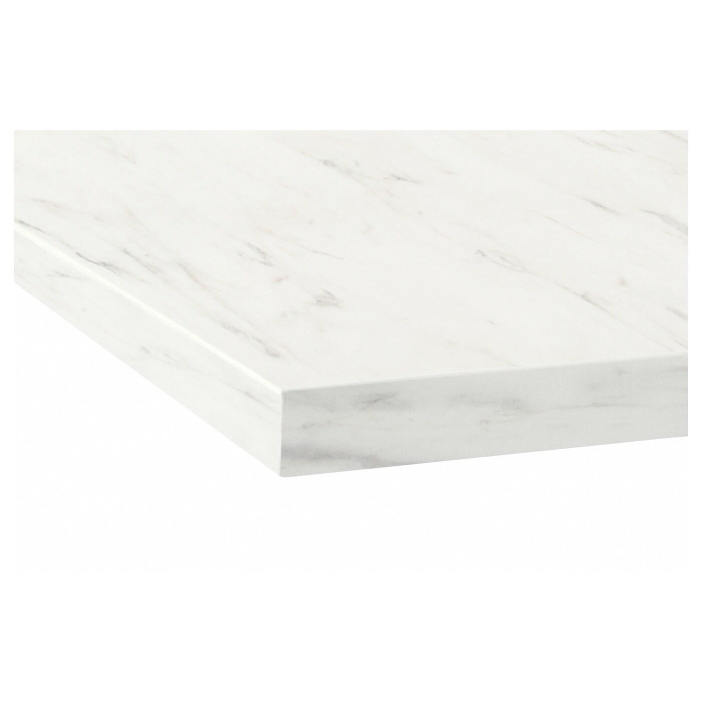 EKBACKEN Worktop White Marble Effect 246 X 2.8 Cm