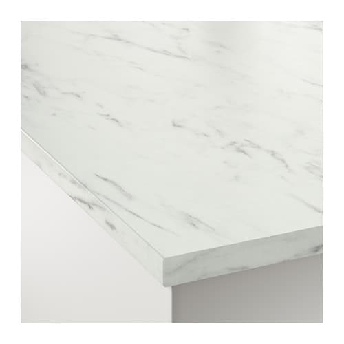 EKBACKEN Worktop White Marble Effect 246x2.8 Cm