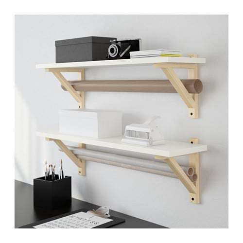ekby sten ekby valter wall shelf white birch 79x19 cm ikea. Black Bedroom Furniture Sets. Home Design Ideas