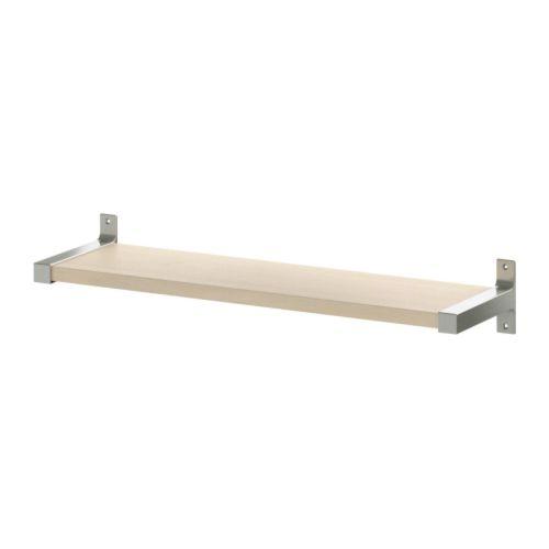 ekby bj rnum ekby j rpen wall shelf birch veneer aluminium 79x19 cm ikea. Black Bedroom Furniture Sets. Home Design Ideas
