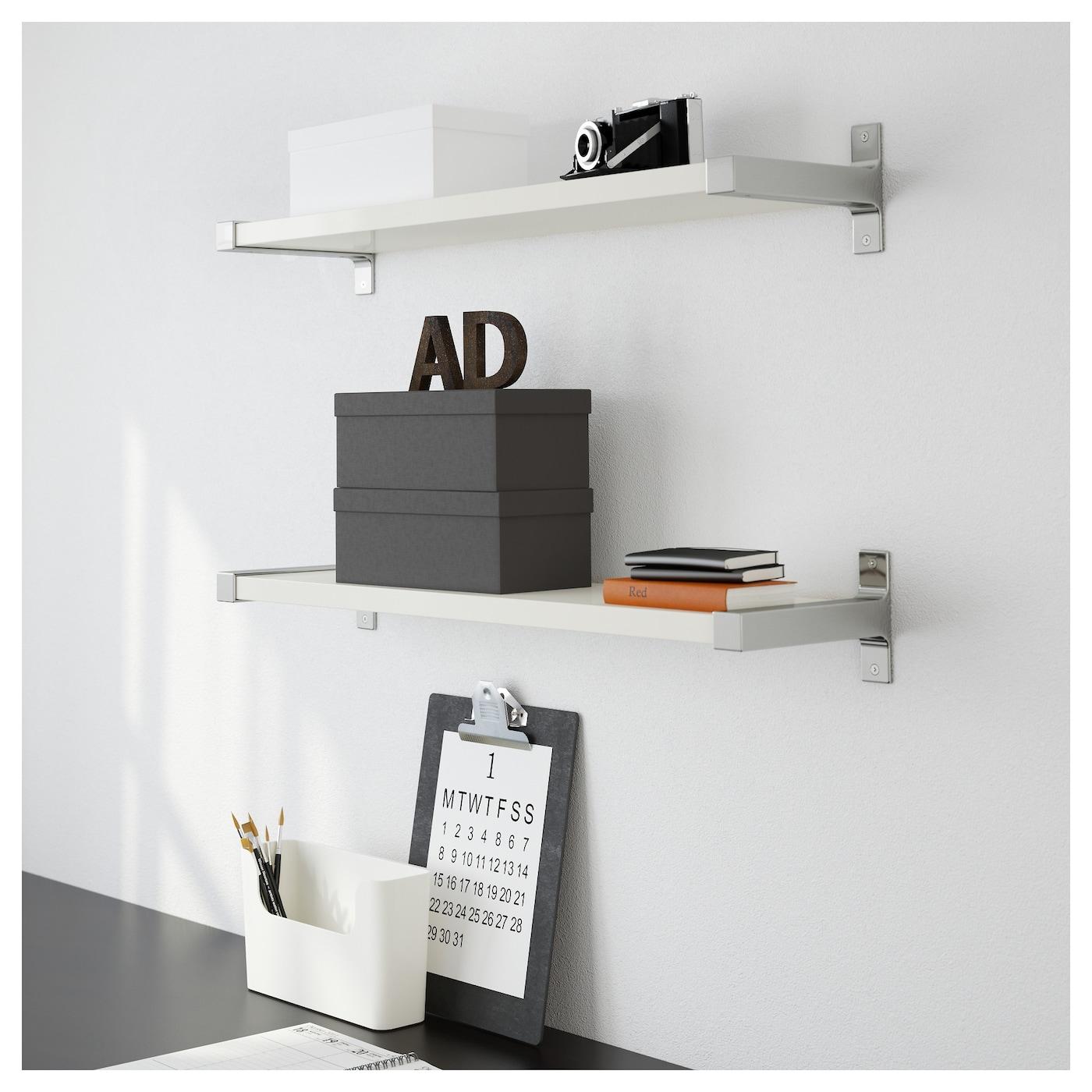 ekby bj rnum ekby j rpen wall shelf white aluminium 79x19 cm ikea. Black Bedroom Furniture Sets. Home Design Ideas