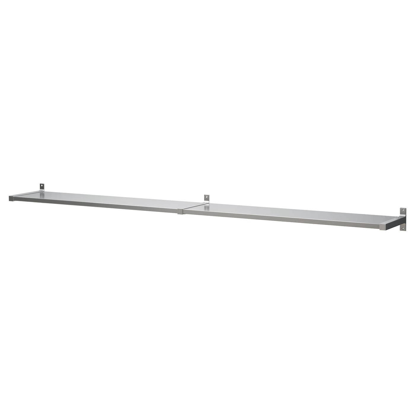 Design Stainless Steel Shelf ekby mossby wall shelf stainless steel 239x28 cm ikea partitioning inside keeps shelves in place