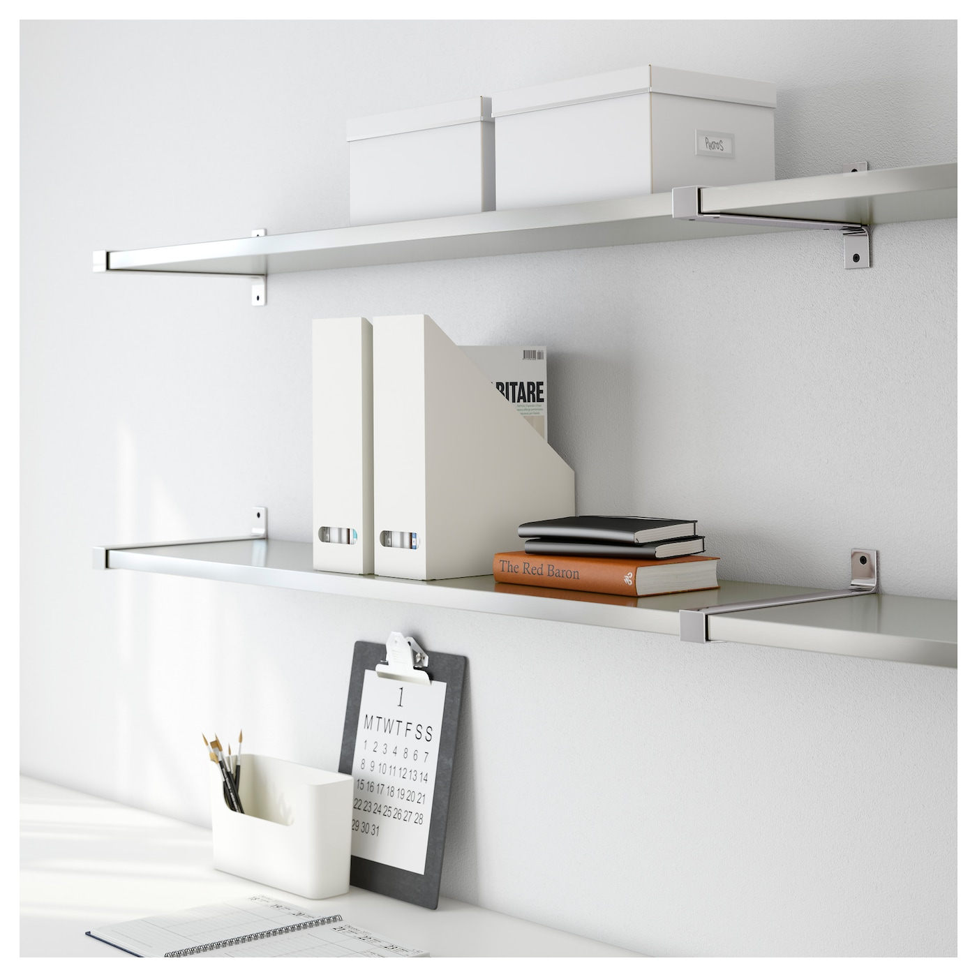 Stainless Steel Shelves Ekby Bjrnum Ekby Mossby Wall Shelf Stainless Steel 239x28 Cm Ikea