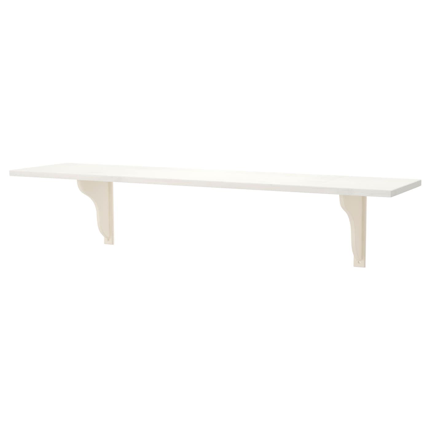 ekby hemnes ekby hensvik wall shelf white stain white 119x28 cm ikea. Black Bedroom Furniture Sets. Home Design Ideas