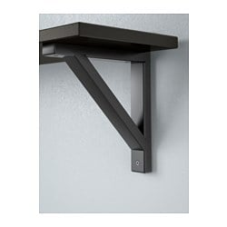 ekby hemnes ekby valter wall shelf black brown black 79x19 cm ikea. Black Bedroom Furniture Sets. Home Design Ideas