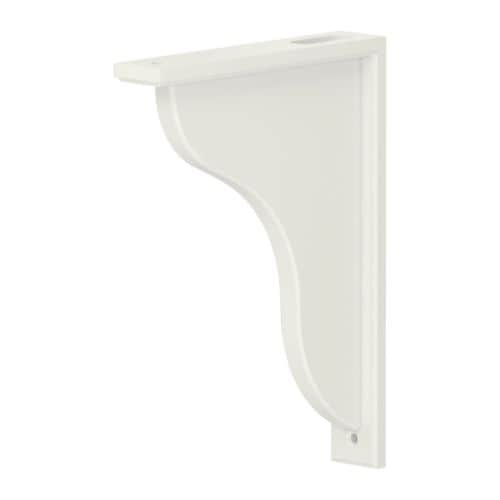 IKEA EKBY HENSVIK bracket Reversible – fits both 19 and 28 cm deep shelves.