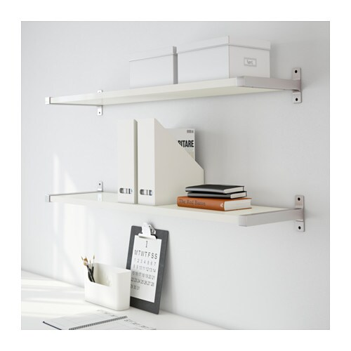 ekby j rpen ekby bj rnum wall shelf white aluminium 119x28 cm ikea. Black Bedroom Furniture Sets. Home Design Ideas
