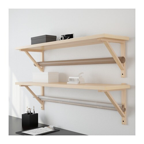 ekby j rpen ekby valter wall shelf birch veneer 119x28 cm ikea. Black Bedroom Furniture Sets. Home Design Ideas