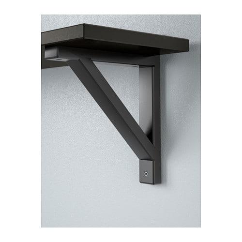 EKBY VALTER EKBY HEMNES Wall shelf Black brown black 79×19 cm IKEA
